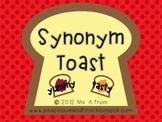 Synonym Toast - Teaching Synonyms