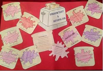 Synonym Toast and Antonym Jam Card Game, Craftivity or Int