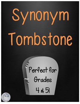 FREE Synonym Tombstones by Inspire in 5th | Teachers Pay Teachers
