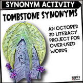 Synonym Tombstones - An Overused Words Craftivity
