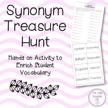 Synonym Treasure Hunt Flash Cards