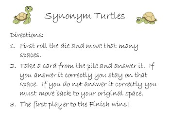 Synonym Turtle Game