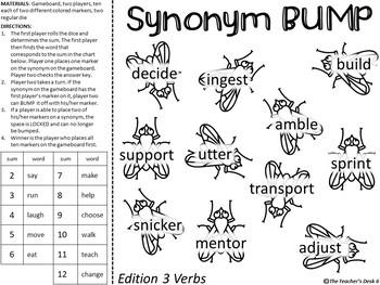 Synonym Verb BUMP Games