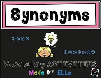 Synonym Vocabulary Activities