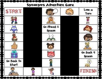 Synonym Vocabulary Board Game