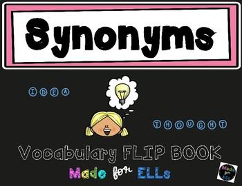 Synonym Vocabulary Flip Books