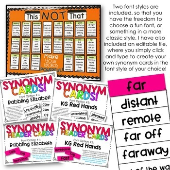 Synonym Wall - Creating INCREDIBLE Vocabulary In Our Classrooms!