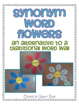 synonym word flowers wall alternative traditional synonyms fun flower antonyms teach way teaching homophones template words crafts elementary writing arts