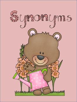 Synonym Word Match - Spring Flower Theme