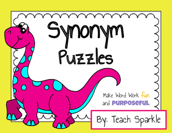 Synonym Word Puzzles (Word Work Game)