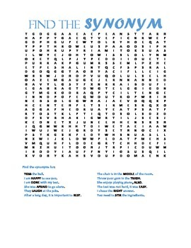 Synonym Word Search