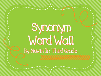 Synonym Word Wall/Word Work Pack