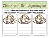 Synonym Worksheet