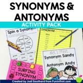 Synonym and Antonym Activity Pack
