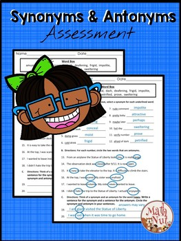 Synonym and Antonym Assessment