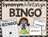 Synonym and Antonym BINGO