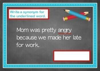 Synonym and Antonym BOOM Cards! (24 Cards) Grades 2-3