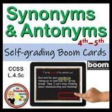 Synonym and Antonym BOOM Cards