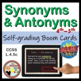 Synonym and Antonym BOOM Cards Digital ELAR
