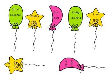 Synonym and Antonym Balloon Sorting