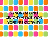 Synonym and Antonym Balloon Sorting