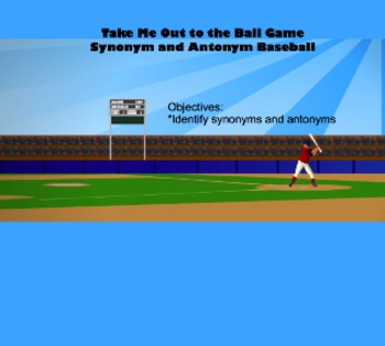 Synonym and Antonym Baseball