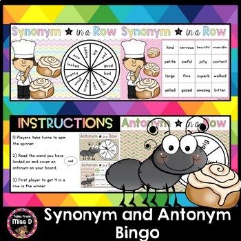 Synonym Antonym Bingo Worksheets & Teaching Resources   TpT