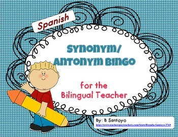Synonym and Antonym Bingo in Spanish