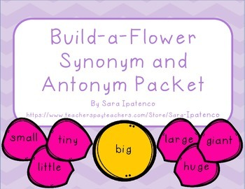 Synonym and Antonym Build-a-Flower Practice Packet