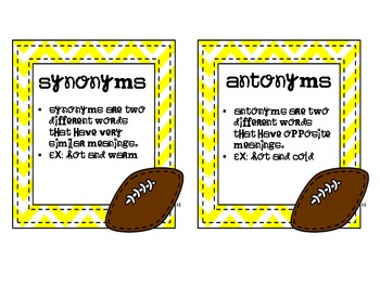 Synonym and Antonym Center Pack
