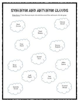 Synonym and Antonym Coloring