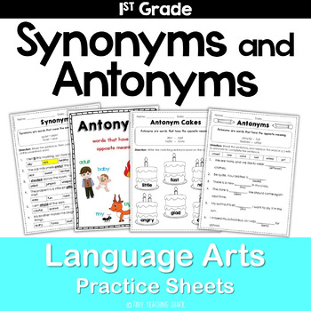 Synonym and Antonym Common Core Practice Sheets L.1.4 by Tiny ...