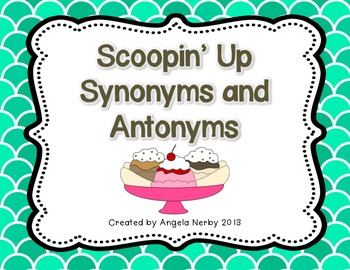 Synonym and Antonym Dominoes