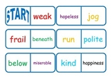 Synonym and Antonym Dominoes - Workstation Game or Small Group Activity