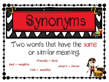 Synonym and Antonym Fun- Pirate Theme