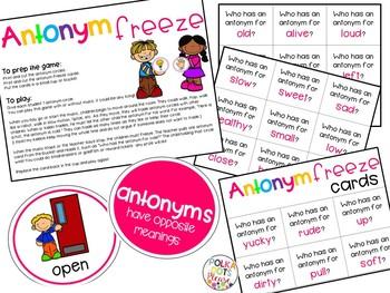 Synonym and Antonym Games