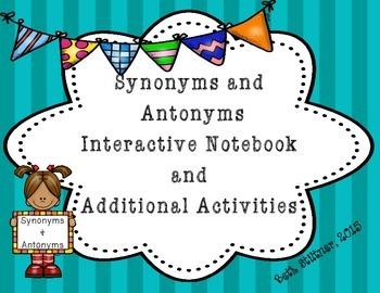 Synonym and Antonym Interactive Notebook