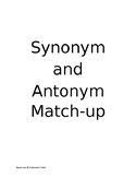Synonym and Antonym Match-Up