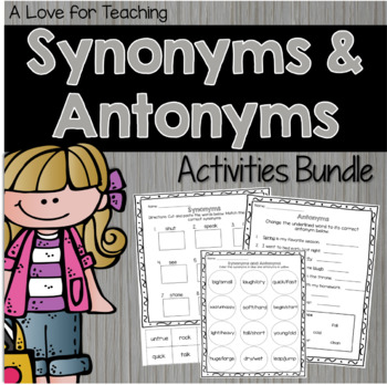 Synonyms And Antonyms Posters Teaching Resources Teachers Pay Teachers