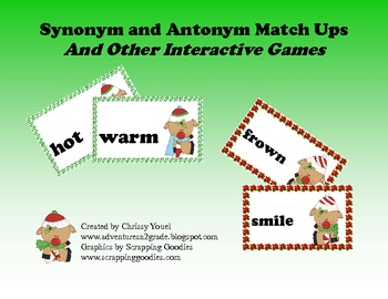 Synonym and Antonym Match Ups and other interactive games