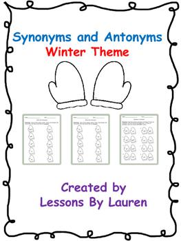 Synonym and Antonym Packet- Winter theme