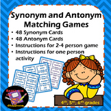 Synonym and Antonym Matching Games