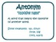Synonym and Antonym Mini Poster Pack