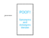 Synonym and Antonym POOF Game