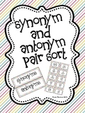 Synonym and Antonym Pair Sort