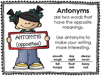 Synonym and Antonym Posters