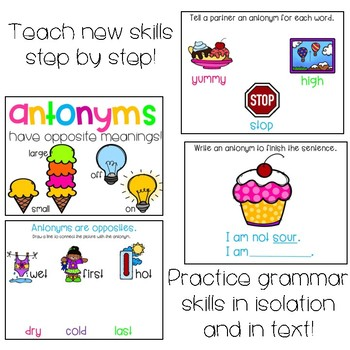 Synonym and Antonym PowerPoint Lessons
