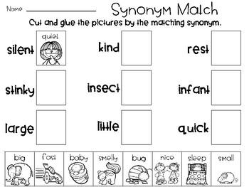 Synonym and Antonym Printables