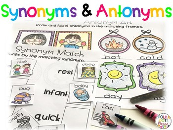 Synonym and Antonym Printables