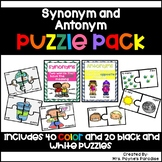 Synonym and Antonym Puzzles, Synonym and Antonym Activitie